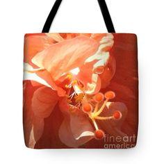 Orange Flower Tote Bag featuring the photograph Orange Chroma By Marilyn Nolan- Johnson by Marilyn Nolan-Johnson