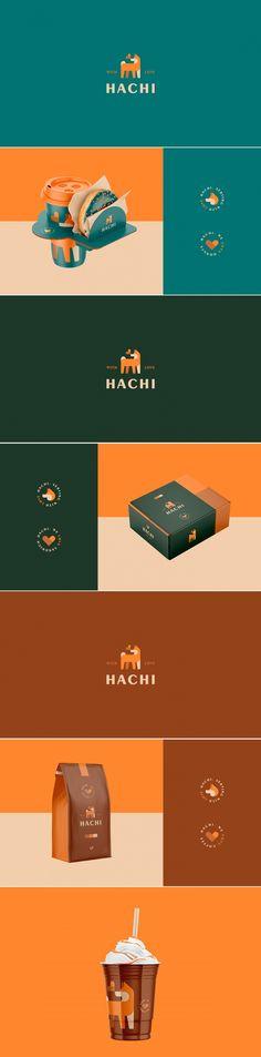 Hachi coffee brand identity design by Guilherme Vissotto Brand Identity Design, Corporate Design, Branding Design, Packaging Design Inspiration, Graphic Design Inspiration, Web Design Trends, Coffee Branding, Branding Agency, Communication Design