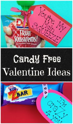 Great ideas for Candy Free Valentines for your kids to take to School or hand out to their friends!