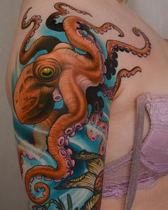 Tattoo done by: Peter Lagergren #pulpo #octopus #octopustattoo