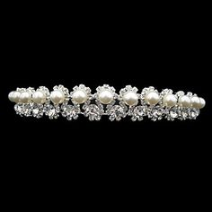 Orderly Alloy With Rhinestone And Pearl Bridal Tiara – GBP £ 7.09