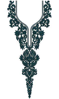 9754 Neck Embrodery Design