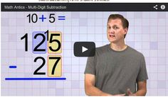 FANTASTIC video on multi-digit regrouping with subtraction! Easy to follow and engaging. More videos on regrouping on this page!