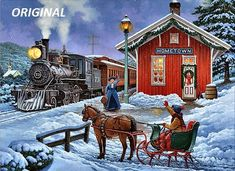 Car, tractor and train Christmas cards from Leanin' Tree feature nostalgic images and the joys of yesteryear.
