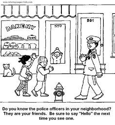 community helper, police intro
