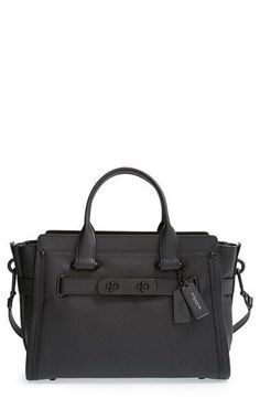 COACH 'Swagger' Pebble Leather Satchel