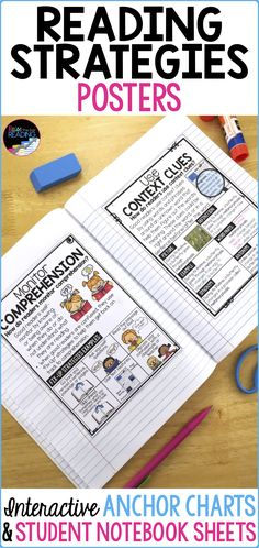 Reading Fiction Posters, Interactive Reading Fiction Anchor Charts, and Student … Reading Workshop, Reading Skills, Teaching Reading, Guided Reading, Reading Lessons, Reading Activities, Reading Strategies Posters, Reading Posters, Writing Anchor Charts