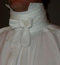 How to tie a cravat (Regency-era neckcloth.)
