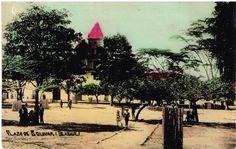 Plaza de Bolivar de Ibagué en los años 10s.