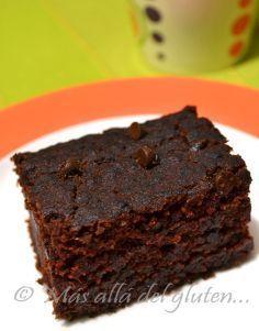 Más allá del gluten...: Brownies sin Gluten y sin Huevos (Receta GFCFSF, Vegana) // gluten free brownie with chia seeds