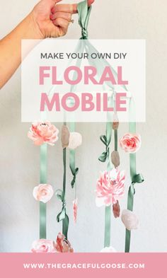 Make your own DIY floral nursery mobile , Baby Shower Fun, Baby Shower Gifts, Girl Nursery, Nursery Decor, Nursery Ideas, Cute Curtains, Best Baby Gifts, Floral Nursery, Before Baby