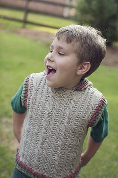 Free Knitting Pattern - Toddler & Children's Clothes: Chutes and Ladders Vest