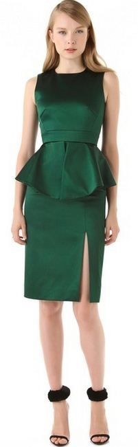 emerald green dress #coloroftheyear2013