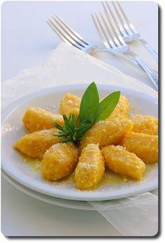 Gnocchi fondants de potiron et parmesan au beurre de sauge