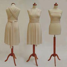 dbdd50db7da7 Krátké krémové Convertibles® šaty 👰💍  kremovesatyconvertibles Každé   satyconvertibles mají k sobě bolerko top ve stejné barvě