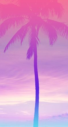 36 Ideas For Palm Tree Wallpaper Iphone Pastel Frühling Wallpaper, Tree Wallpaper Iphone, Summer Wallpaper, Pastel Wallpaper, Locked Wallpaper, Cellphone Wallpaper, Flower Wallpaper, Purple Wallpaper Phone, Tropical Wallpaper