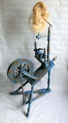 Antique Lithuanian Spinning Wheel | eBay