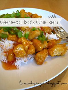 healthy General Tso's Chicken recipe, homemade chinese food, general tso's chicken, easy chinese food