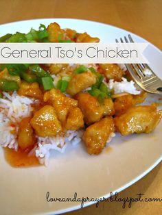 healthy General Tso's Chicken recipe, homemade chinese food, general tso's chicken, easy chinese food
