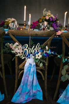 Watercolor Inspired Wedding Editorial, Little Blue Bird Photography, event design by Swanky I Do's, florals by Bluegrass Chic Wedding Chair Decorations, Wedding Chairs, Flower Decorations, Wedding Centerpieces, Tall Centerpiece, Love Birds Wedding, Dream Wedding, Space Wedding, Wedding 2017