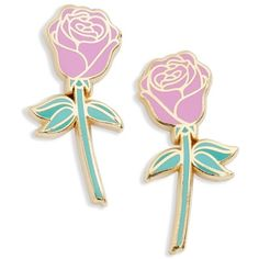 Women's Big Bud Press 'Pink Rose' Pins ($28) ❤ liked on Polyvore featuring jewelry, brooches, earrings, pink rose, pin jewelry, pink jewelry, rose brooch, rose jewellery and pink brooch