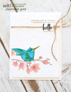 Unity Stamp Company: A Little Hello | Stephanie Gold