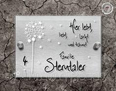 Tür- & Namensschilder - *LeLaLuSTERNtal Pu*Edelstahl OPTIK Acryl Türschild - ein Designerstück von heavenlygoods bei DaWanda