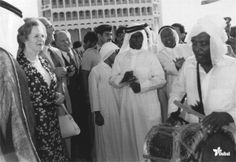 Margaret Thatcher at the World Trade Centre Dubai 1980s