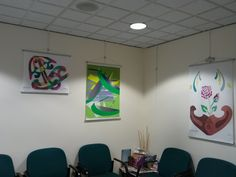 My #artwork on display at my dentists' office!  www.saralamotheart.com