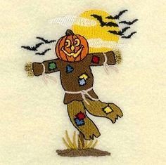Jack-o-lantern Scarecrow - 4x4 | What's New | Machine Embroidery Designs | SWAKembroidery.com Starbird Stock Designs