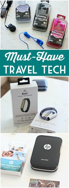 Whether you& road tripping across the country or roaming the globe, don& leave home without this year& must-have travel tech. Best Travel Gadgets, Cool Tech Gadgets, New Gadgets, Travel Hacks, Travel Tips, Travel With Kids, Family Travel, Best Travel Accessories, Cool Electronics