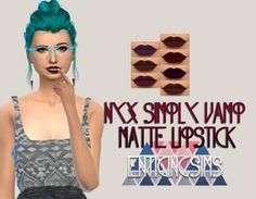Simsworkshop: Nyx Simply Vamp Matte Lipstick by EnticingSims • Sims 4 Downloads