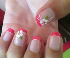 Pink Nail Art, Toe Nail Art, Toe Nails, Acrylic Nails, French Manicure Nails, French Tip Nails, Fancy Nails, Trendy Nails, French Nail Designs