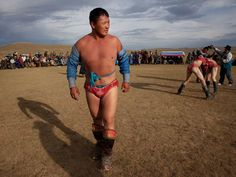 Dorj Batmunkh, second-generation wrestler in Khujirt, Mongolia
