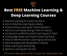 Are you looking for Best Online Courses On Machine Learning?. But confused because of so many courses available online. So, don't worry. Your search will end after reading this article. This article is written after performing a lot of research on various available Online Courses on Machine Learning. #machinelearning #deeplearning #machinelearningfreecourses #deeplearningfreecourses #bestmachinelearningcourses Machine Learning Course, Machine Learning Deep Learning, Learning Courses, Introduction To Machine Learning, Recommender System, Supervised Learning, Decision Tree, Best Online Courses, Resume Services