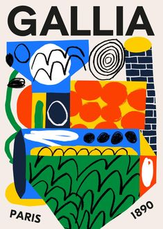 Gallia - atelier-bingo Illustration Design Graphique, Cut Paper Illustration, Bingo, Graphic Design Posters, Graphic Design Typography, Posters Conception Graphique, Visual Aesthetics, Illustrations Posters, Art Inspo