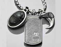 David Yurman  Special Petrvs Amulet Necklace