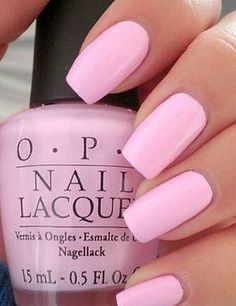 OPI nails are the best very pretty pink Uñas Art Deco, Cute Nails, Pretty Nails, Opi Nails, Nail Polishes, Polish Nails, Opi Nail Polish Names, Best Nail Polish, Stiletto Nails