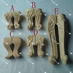 4 STKS/PARTIJ, verschillende specificaties, houten gesneden meubels benen, kast benen, sofa benen, meubels voeten, kast voeten