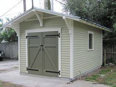 new old shed, doors, outdoor living