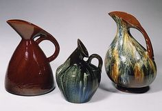 Christopher Dresser  Linthorpe Art Pottery pitchers