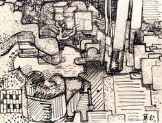 Hans Hofmann c.1929. Ink on mounted parchment