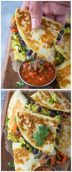 Avocado Black Bean Quesadillas | Tasty Food Collection