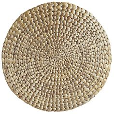Wake up your table companions, whether at breakfast, brunch, lunch or dinner. Water hyacinth grasses are artfully woven into this naturally colored placemat, and coated with a silver-metallic finish that adds extra depth to its radiating pattern at any angle.