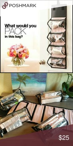 Mary Kay Travel Hanging Makeup Bag This beautiful bag is great for travel or use at home. It comes with 4 detachable bags and it can hang in your bathroom or in your closet.  This bag is brand new and has never been used.  It comes with Mary Kay samples. Mary Kay Bags Cosmetic Bags & Cases