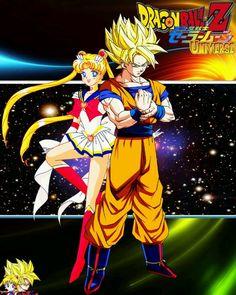 OoOo.. Sailor Moon and Goku!