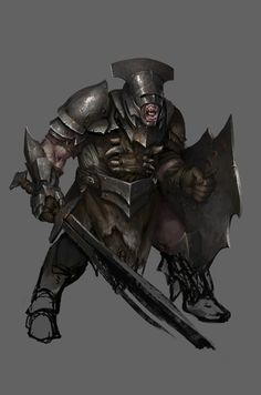 """Orc War Lord - The Hobbit: Armies of the Third Age Illustrations by Mike """"Daarken"""" Lim"""