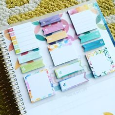 The new @erincondren sticky notes are gorgeous! #erincondrenlifeplanner #ecstickynotes #wclp