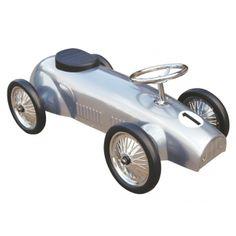 Kinder Rutschauto/Racer silbergrau 83cm ab 2 Jahre