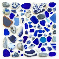 """1,208 Likes, 25 Comments - Anne Marie Gorham (@lakesuperior_beachglass) on Instagram: """"Blue beach color study """""""